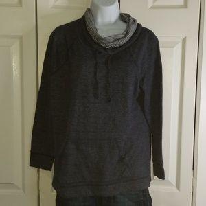 SUNDAY Cowl Neck Front Pocket Sweatshirt L